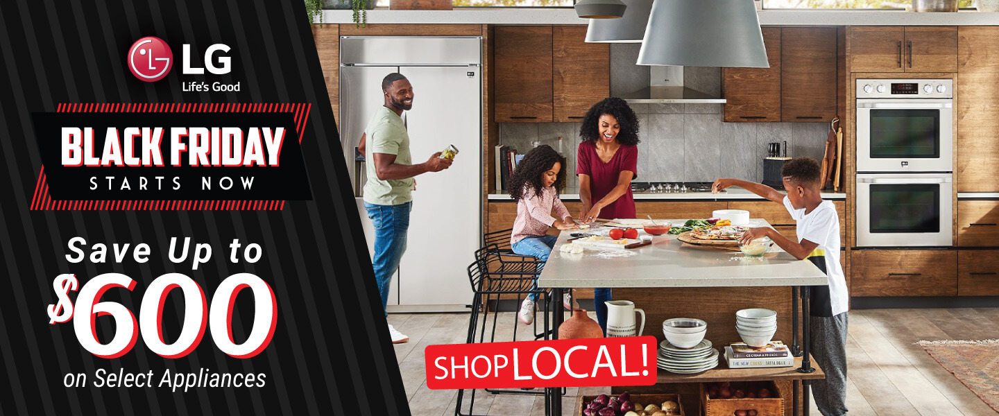 Shop Local for Black Friday Savings on LG Appliances
